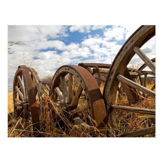 Vintage Wagon Wheels Postcard