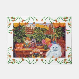 Vintage Wain Botanist Cat Doormat