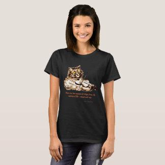 Vintage Wain Cat Playing Violin Art T-Shirt
