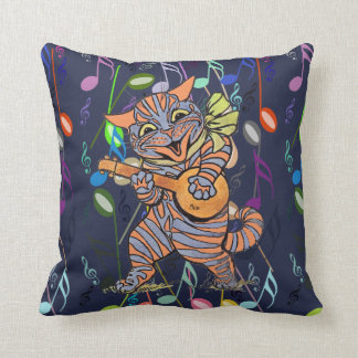 Vintage Wain Musical Cats Art Cushion