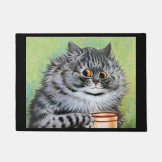 Vintage Wain Tea Cat Art Doormat