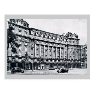 Vintage Waldorf Hotel London Postcard