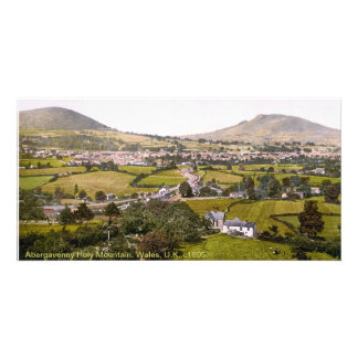 Vintage Wales landscape, Abergavenny Holy Mountain Photo Greeting Card