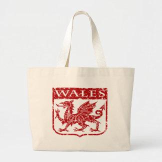 Vintage Wales Large Tote Bag