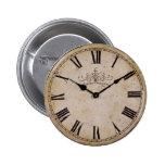 Vintage Wall Clock 6 Cm Round Badge