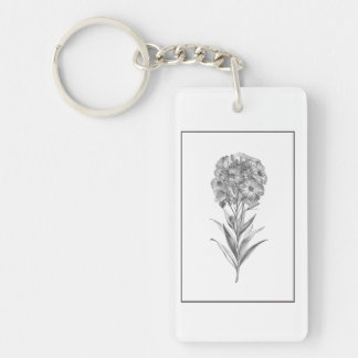 Vintage Wall flower etching keychain