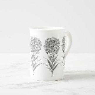 Vintage Wall flower etching mug