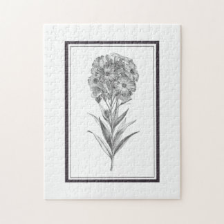 Vintage Wall flower etching puzzle