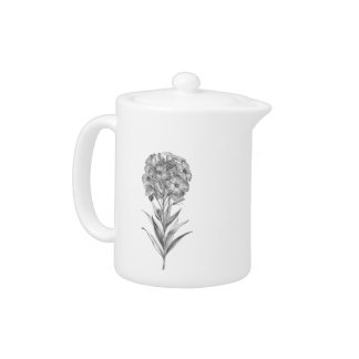 Vintage Wall flower etching teapot