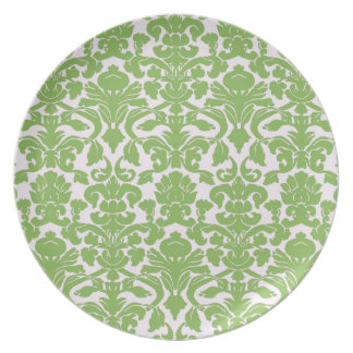 Vintage Wall Paper Dinner Plates