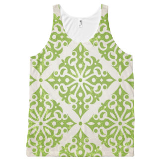 Vintage wallpaper All-Over print tank top