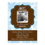 Vintage Wallpaper Baby Boy Shower Invitation