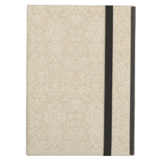 Vintage Wallpaper Beige Floral Elegant Damask iPad Air Cover