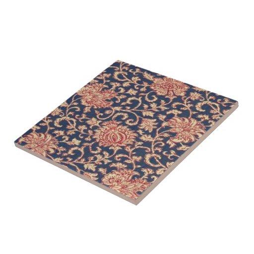 Vintage Wallpaper Floral Ceramic Tile