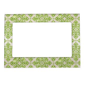 Vintage wallpaper magnetic picture frame
