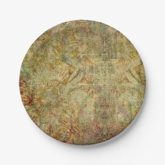 Vintage wallpaper paper plate