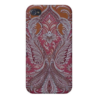 Vintage Wallpaper Wine Copper Case iPhone 4 Case For iPhone 4