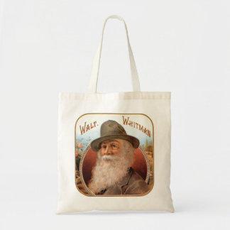 Vintage Walt Whitman portrait of poet writer Budget Tote Bag