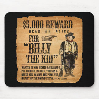 Vintage Wanted / Reward Poster for Billy the Kid Mouse Pads