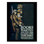 Vintage War Postcards, Books wanted Postcard