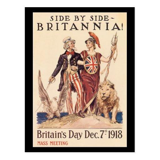 Vintage War Postcards, Britian allies