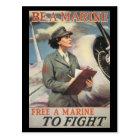 Vintage War Postcards, Woman Marines Postcard