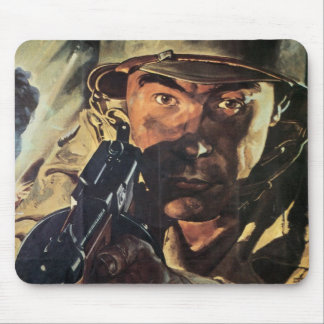 Vintage War Poster Mouse Pad