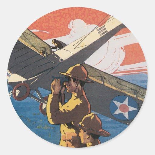 Vintage War Poster stickers