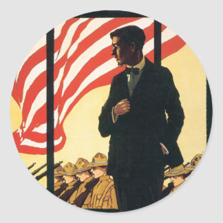 Vintage War Poster stickers - Enlist