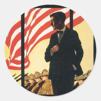Vintage War Poster stickers - Enlist