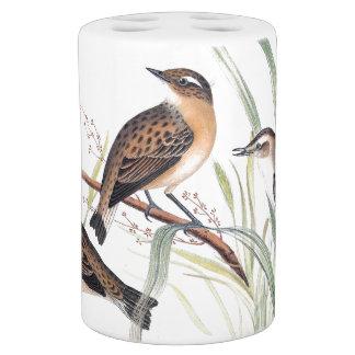 Vintage Warbler Birds Wildlife Animal Bath Set