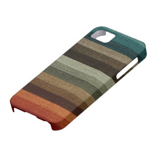 Vintage Warm Autumn Striped Pattern Earth Tones iPhone 5 Cover