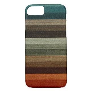 Vintage Warm Autumn Striped Pattern, Earth Tones iPhone 8/7 Case