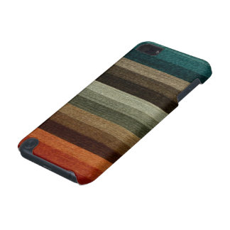 Vintage Warm Autumn Striped Pattern, Earth Tones iPod Touch (5th Generation) Cover