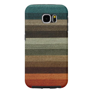 Vintage Warm Autumn Striped Pattern, Earth Tones Samsung Galaxy S6 Cases