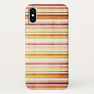 Vintage Warm Autumn Stripes Pattern iPhone X Case
