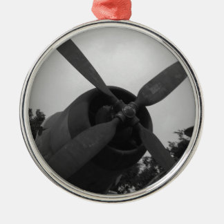 Vintage warplane christmas ornament