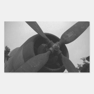 Vintage warplane rectangular sticker