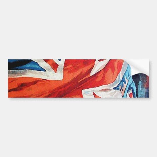 Vintage Wartime Wavy Union Jack British Flag Bumper Sticker