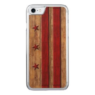 Vintage Washington D.C. Flag Distressed Carved iPhone 8/7 Case
