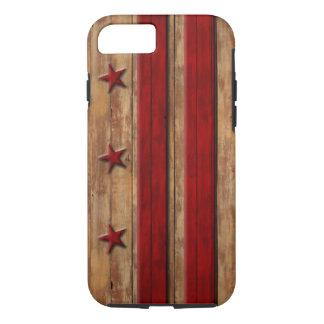Vintage Washington D.C. Flag Distressed Wood Look iPhone 8/7 Case
