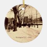 Vintage Washington DC In Snow Christmas Decoration