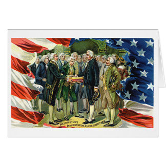 Vintage Washington s Inauguration As President Greeting Cards