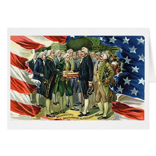 Vintage Washington's Inauguration As President Greeting Cards