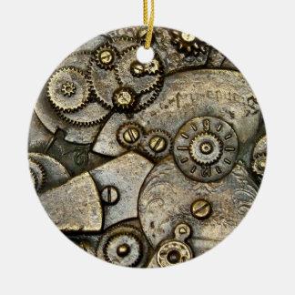 Vintage Watch Gear Mechanism Round Ornament Round Ceramic Ornament