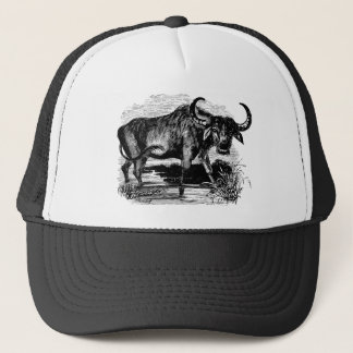 Vintage Water Buffalo Retro Bison Illustration Trucker Hat