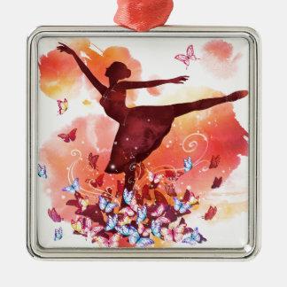 Vintage Watercolor Ballerina Dancer Ballet and But Christmas Ornament