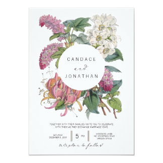 Vintage Watercolor Floral Art Wedding 13 Cm X 18 Cm Invitation Card