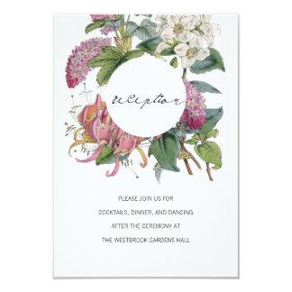 Vintage Watercolor Floral Art Wedding 9 Cm X 13 Cm Invitation Card