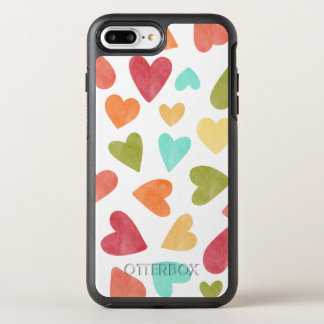 Vintage Watercolor Hearts Valentine | Phone Case
